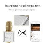 Q9 Wireless Bluetooth Mobile Phone / microfone de karaokê - Ouro