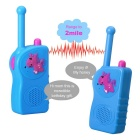 E-SMART TD-417 0.5W 3V Walkie Talkies for Children - Blue + Red (2PCS)