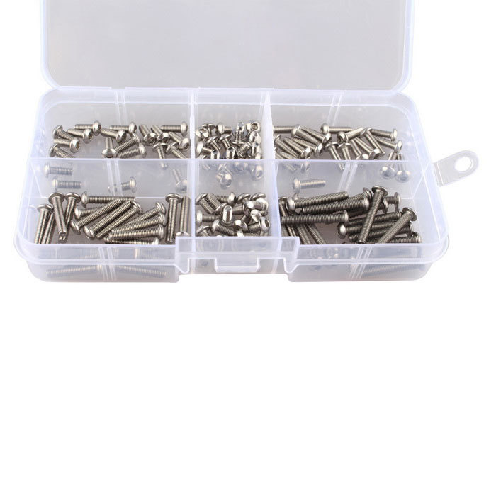 120pcs M3 Stainless Steel Button Hex Head Socket Cap Screws