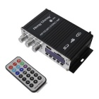 "CARKING 35W 1.8"" Stereo Amplifier MP3 Player w/ FM / SD / USB - Black"