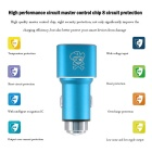 Hat-Prince 2-USB Car Charger / Metal Emergency Hammer - Blue