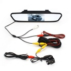 "plegables 4.3"" cámara del coche retrovisor revertir w / 4 luces LED kelima"