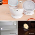 360° Rotating Motion-activated LED Night Light Battery Powered - White