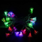 15.4ft LED Colorful 20-LED w/ Transparent Bell Twinkle Lights String