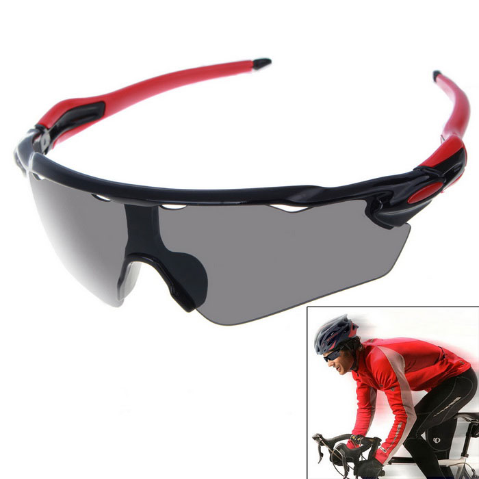 Unisex Outdoor Sport Cycling Explosion-proof Sunglasses - Black + Red