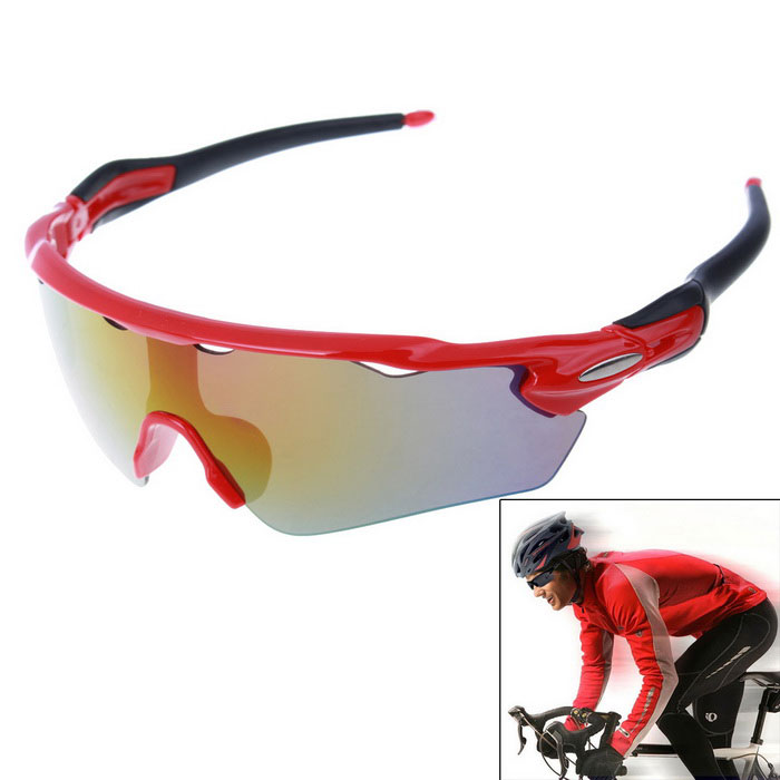 Unisex Outdoor Sport Cycling Explosion-proof Sunglasses - Yellow REVO