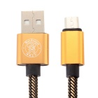 Hat-Prince Micro USB Data / Charger Cable for Android Phone - Golden