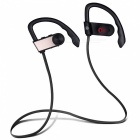 Sweatproof Bluetooth Sport Headset Noise Reduction Earphone - Golden