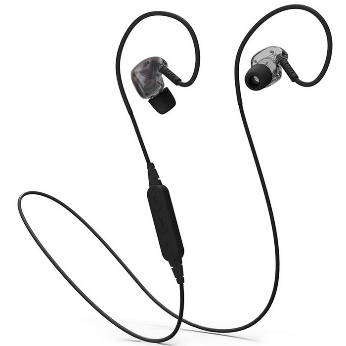 Bluetooth IPX5 Waterproof Stereo Sport Headset With Mic - Black