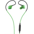 Bluetooth IPX5 Waterproof Stereo Sport Headset With Mic - Green