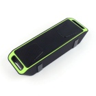 S816 Wireless Bluetooth Speaker w/ Hands-free / FM - Green + Black