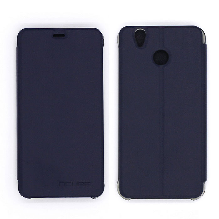OCUBE PU Leather Case for Oukitel U7 PLUS Mobile Phone - Dark Blue