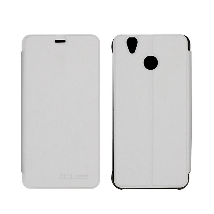 OCUBE PU Leather Case for Oukitel U7 PLUS Mobile Phone - White