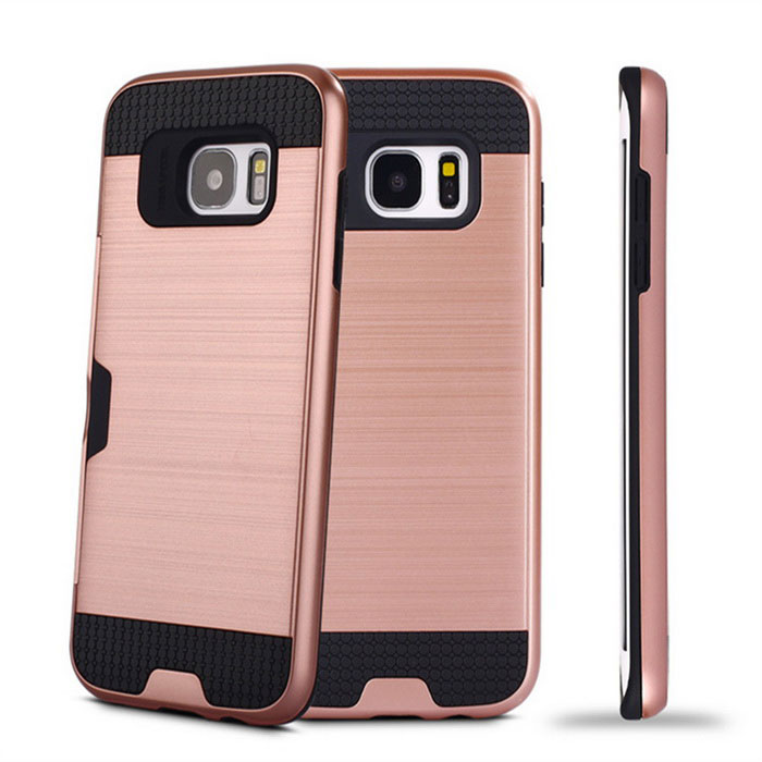 Wiredrawing TPU Back Case w/ Card Slots for Samsung Galaxy S7 Edge