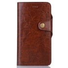 PU Leather Case w/ Card Slots + PC Case for IPHONE 7 Plus - Dark Brown