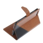 PU Leather Wallet Cases w/ Stand for IPHONE 7 Plus - Brown + Black