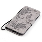BLCR Butterfly Pattern Protective Case for LG K7 - Gray