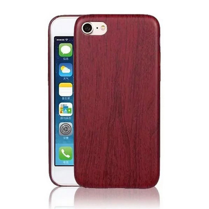 Ultra Thin Soft PU Leather for IPHONE 7 - Wine Red