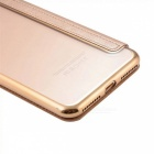 Flip Open PU Leather Case w/ Card Slots for IPHONE 7 Plus - Golden