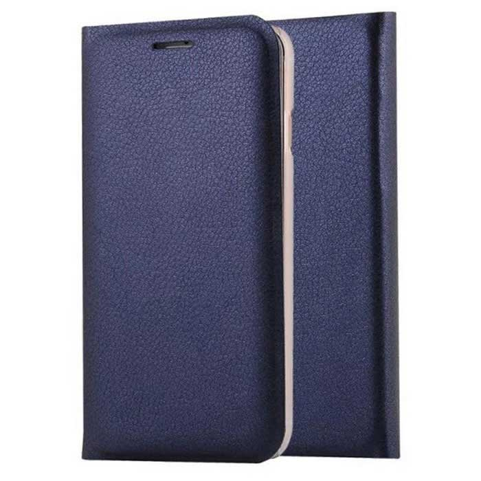 Flip Open PU Leather Case w/ Stand / Card Slots for IPHONE 7 - Blue