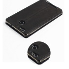 OCUBE PU Leather Case for Leagoo Shark 1 Mobile Phone - Black + Grey
