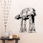Removable DIY 3D Robot Decorative Wall Sticker - Black
