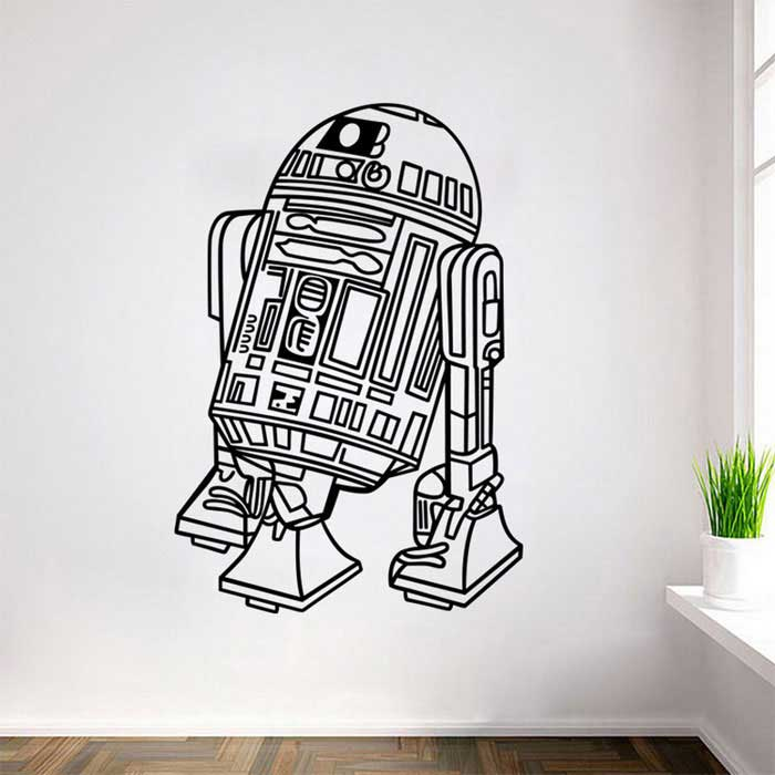 Removable DIY 3D Pro Decorative Wall Sticker - Black