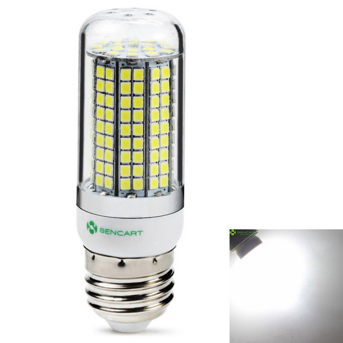 SENCART E27 8W 180-2835 SMD 800lm Cold White LED Light BulbE27<br>Color BINCool WhiteModelE27MaterialABS+PCB+LEDForm  ColorWhiteQuantity1 DX.PCM.Model.AttributeModel.UnitPower8WRated VoltageAC 220-240 DX.PCM.Model.AttributeModel.UnitConnector TypeE27Emitter TypeOthers,2835SMD LEDTotal Emitters120Theoretical Lumens1500 DX.PCM.Model.AttributeModel.UnitActual Lumens800 DX.PCM.Model.AttributeModel.UnitColor Temperature6000KDimmableNoBeam Angle360 DX.PCM.Model.AttributeModel.UnitPacking List1 * E27  Led Bulb<br>