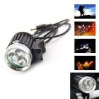 3LED Diamond BK Waterproof 3-Mode Neutral White LED Bike Light (8.4V)