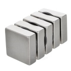29 * 29 * 9,5 mm Cuboid NdFeB magneter - silver (5st)