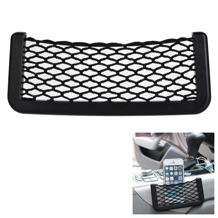 Creative Car Storage Organizing Plastic Net Bag - Black (15 *8cm)Car Holders and Organizer<br>Form  ColorBlackModelN/AQuantity1 DX.PCM.Model.AttributeModel.UnitMaterialPlasticShade Of ColorBlackTypeBagUsing WayFlexible TypeMax. Load1 DX.PCM.Model.AttributeModel.UnitPacking List1 * Net bag<br>
