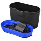 Hanging Type Car Trash Bin Can Garbage Dust Case Holder - Black + Blue