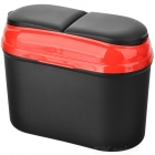 Hanging Type Car Trash Bin Can Garbage Dust Case Holder - Black + Red