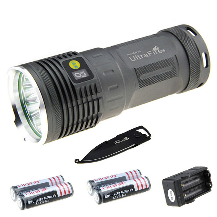 Ultrafire XM-L2 U2 6-L2 5387lm Flashlight Kit w/ Multi-tool (4*18650)