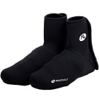 NUCKILY Wind-proof Waterproof Cycling High Shoe Covers - Black(XL)