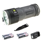 Waterproof Rechargeable 7187lm Flashlight Kit w/ Multi-tool