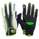NUCKILY Touch Screen Non-slip Full-finger Gloves - Green + White (XL)