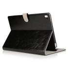 Cow Split Leather Case w/ Stand / Card Slots for IPAD PRO 9.7'' -Black