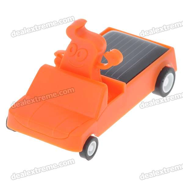 Mini Solar Powered Car (Orange)