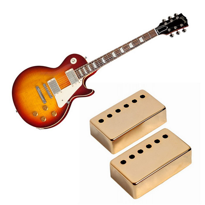 2PCS Metal Humbucker Pickup Cover for LP Style Electric Guitar -GoldenInstruments Parts<br>Form  ColorGoldenMaterialMetalQuantity1 DX.PCM.Model.AttributeModel.UnitShade Of ColorGoldCompatible ModelsPickupsOther FeaturesFor: LP GuitarPacking List2 * Pickup covers<br>