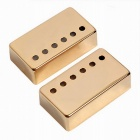 2PCS Metal Humbucker Pickup Cover for LP Style Electric Guitar -Golden