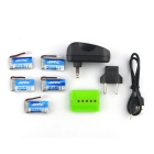 X5A-A13 4-Batteries + 1-to-5 Charger + TOL Converter + Charger Cable