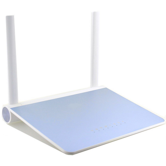3mm Ultra-thin Aluminum Alloy 300Mbps Wireless Router - Blue