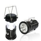 Outdoor Tent Retractable USB Solar Camping Lamp LED Lantern Light for Hiking Emergencies