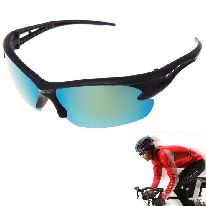 Men's Explosion-proof Outdoor Cycling Sunglasses - Blue + Black