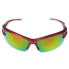 Men's Explosion-proof Outdoor Cycling Sunglasses - Red + Yellow