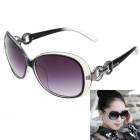 Women's Luxury Crystal Texture Gradient Sunglasses - Black Grey