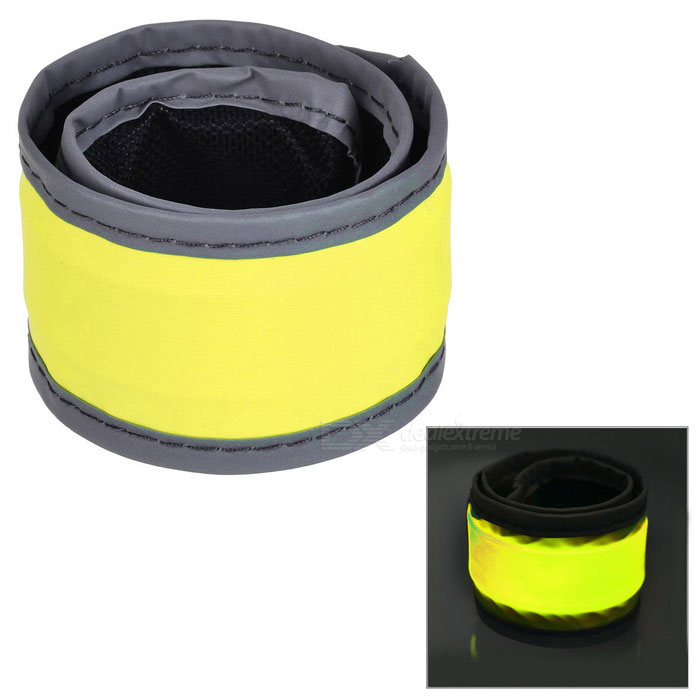 Outdoor Sports Cycling Reflective Lighting Hand Ring Band - Yellow