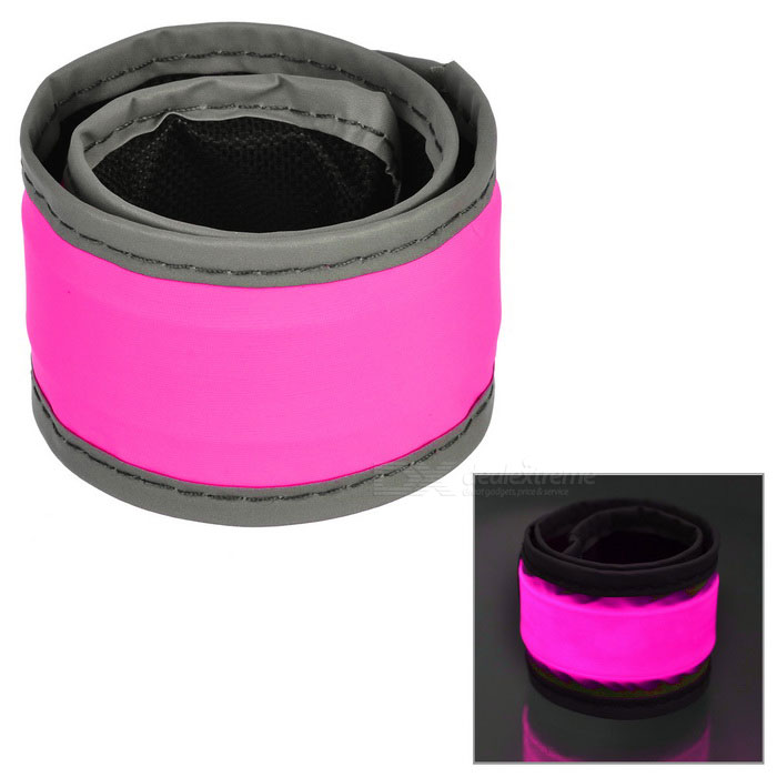 Outdoor Sports Cycling Reflective Lighting Hand Ring Band - PinkBike Light<br>Form ColorPinkQuantity1 DX.PCM.Model.AttributeModel.UnitMaterialNylonPowered ByBuilt-in BatteryPacking List1 * Luminous bracelet<br>