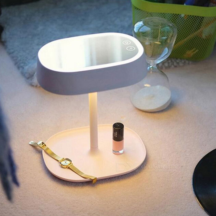 multifunctional rechargeable make up mirror led table